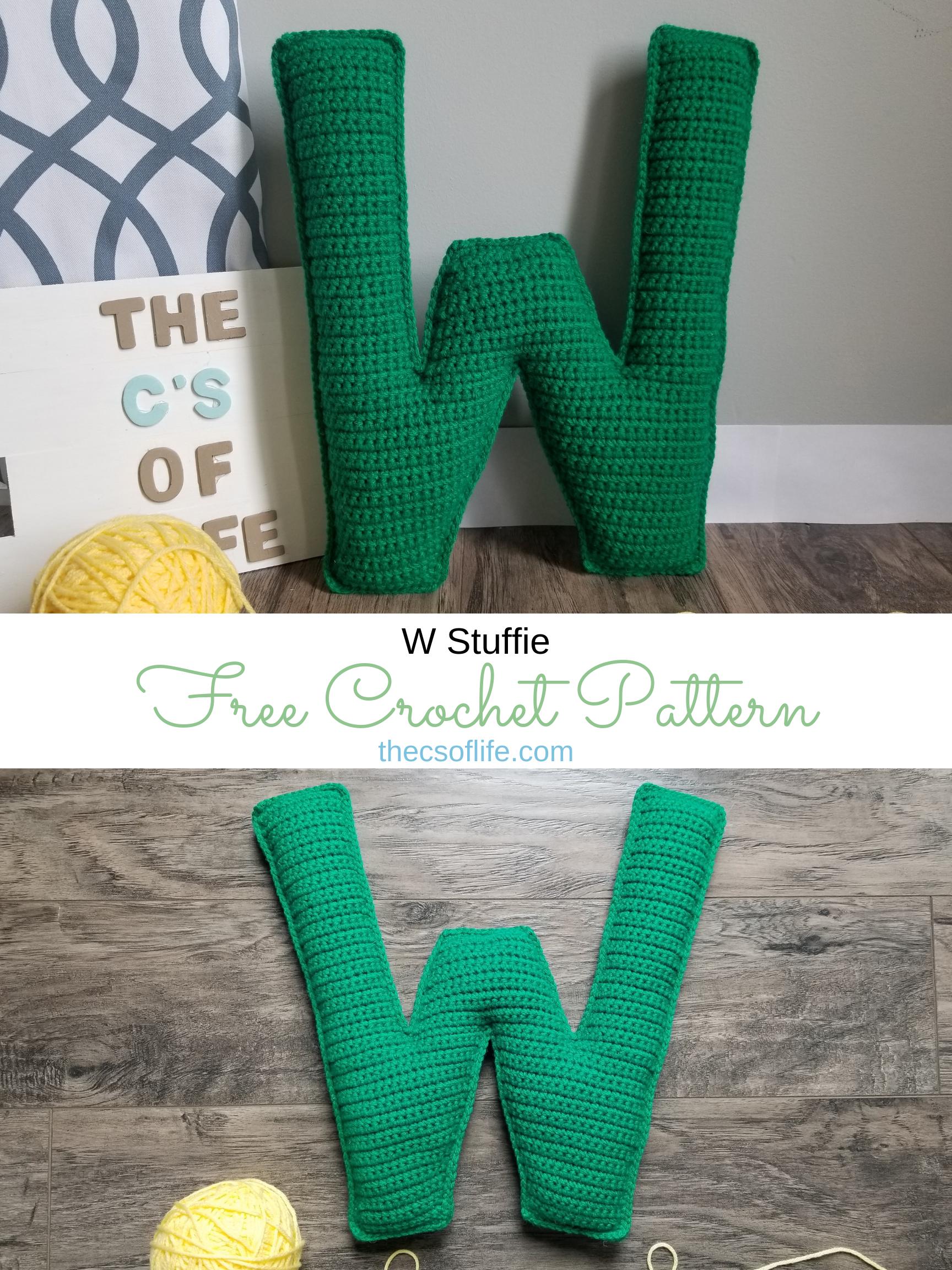 W Stuffie - Free Crochet Pattern