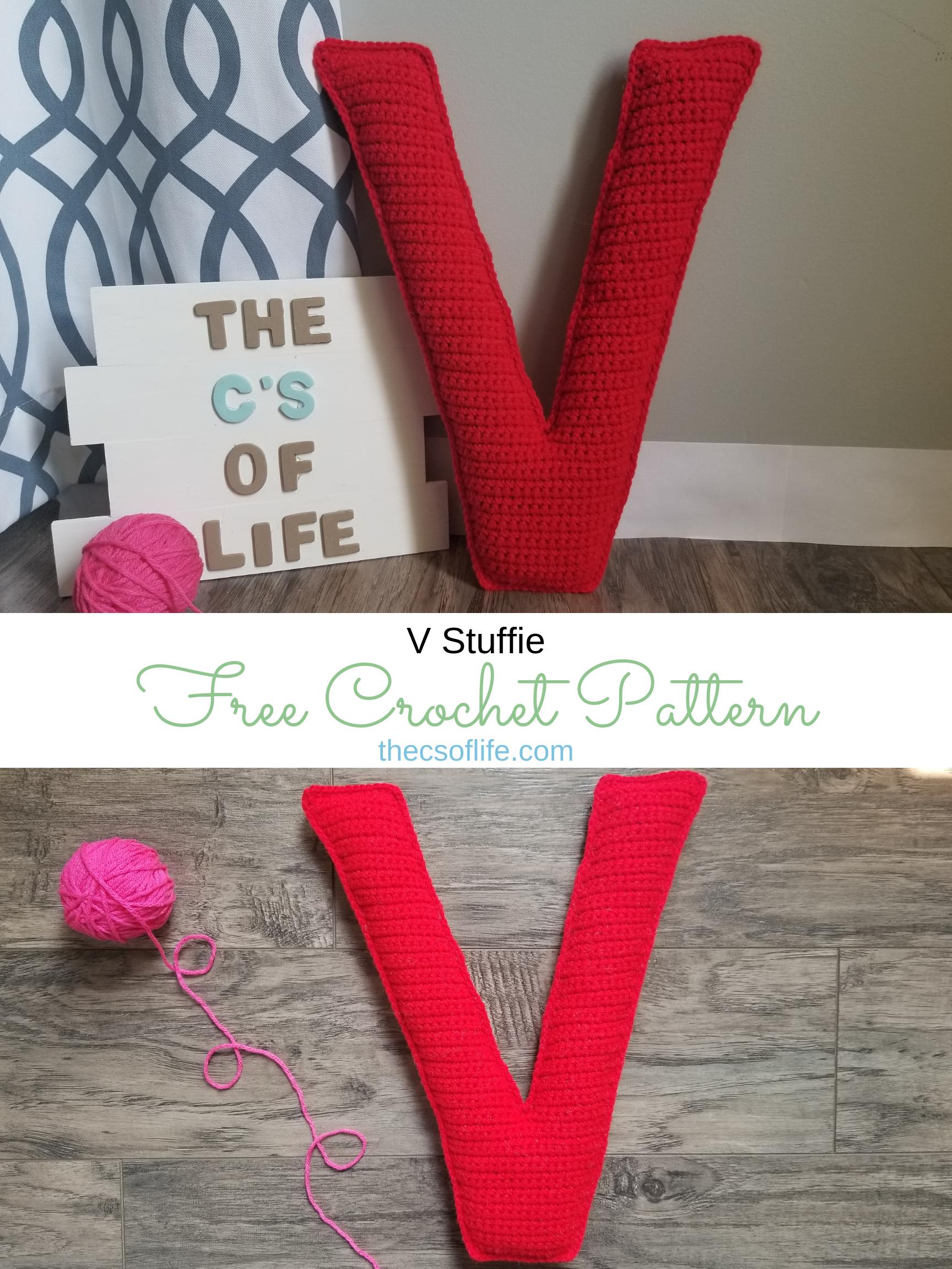 V Stuffie - Free Crochet Pattern
