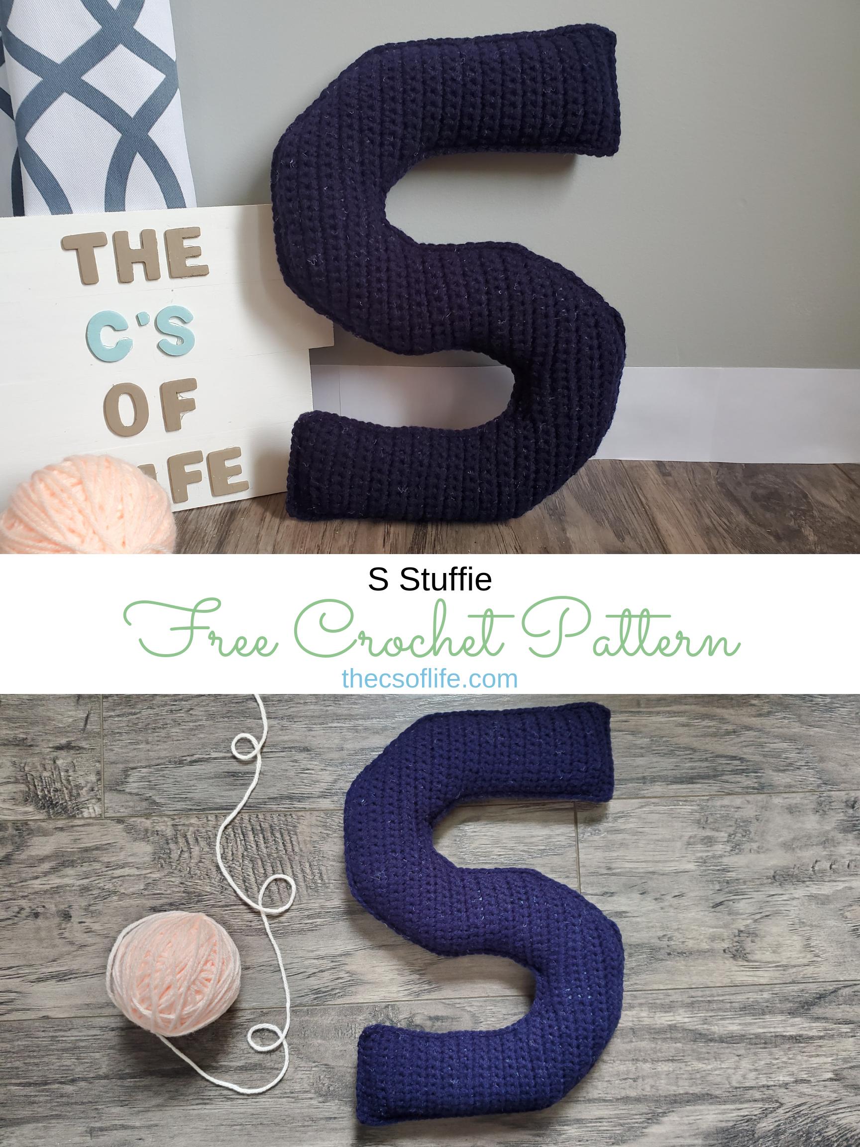 S Stuffie - Free Crochet Pattern