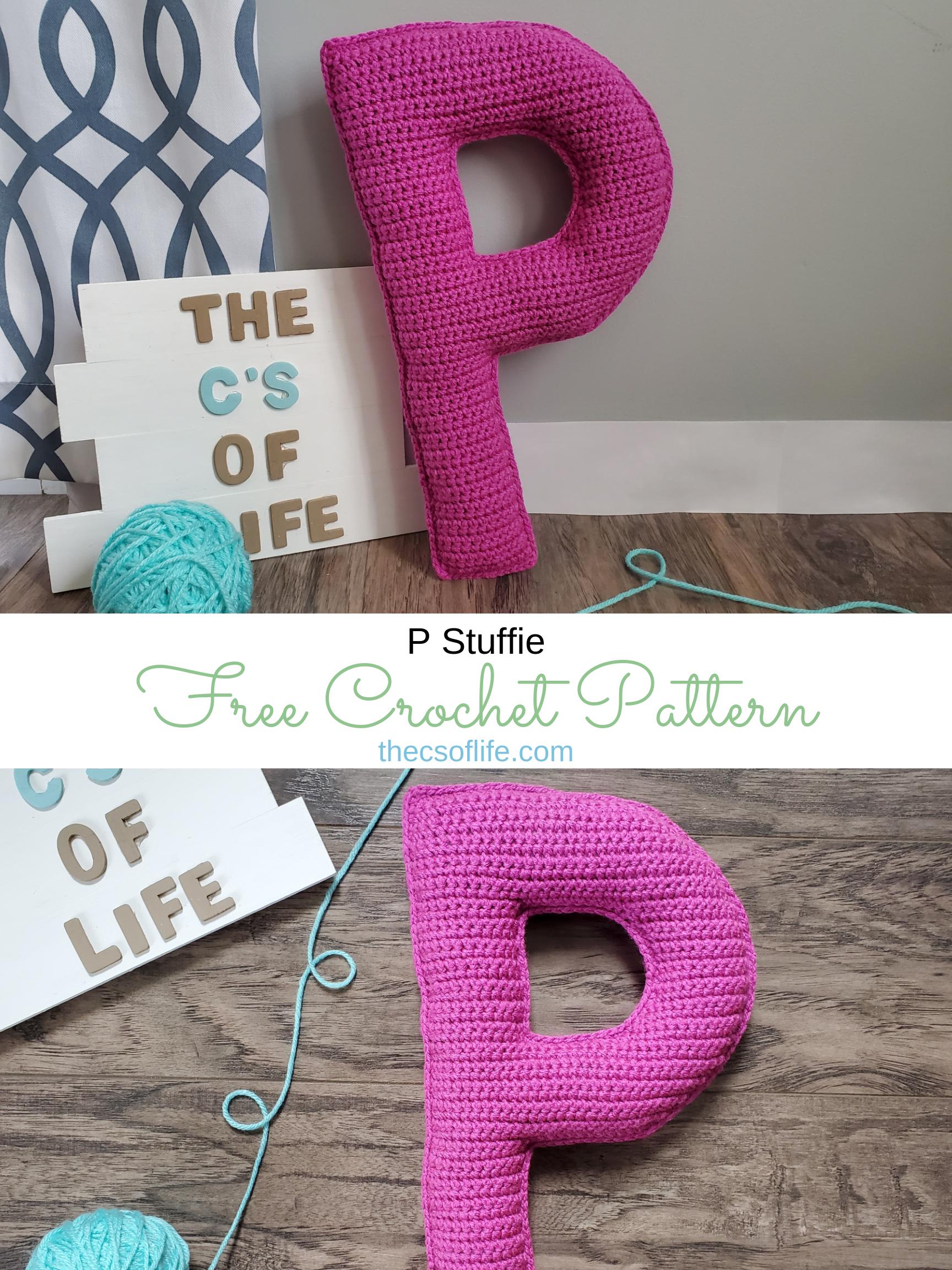 P Stuffie - Free Crochet Pattern