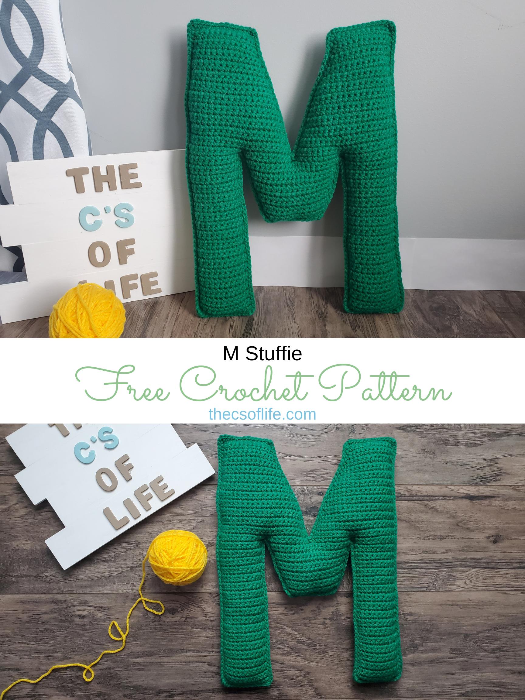 M Stuffie - Free Crochet Pattern