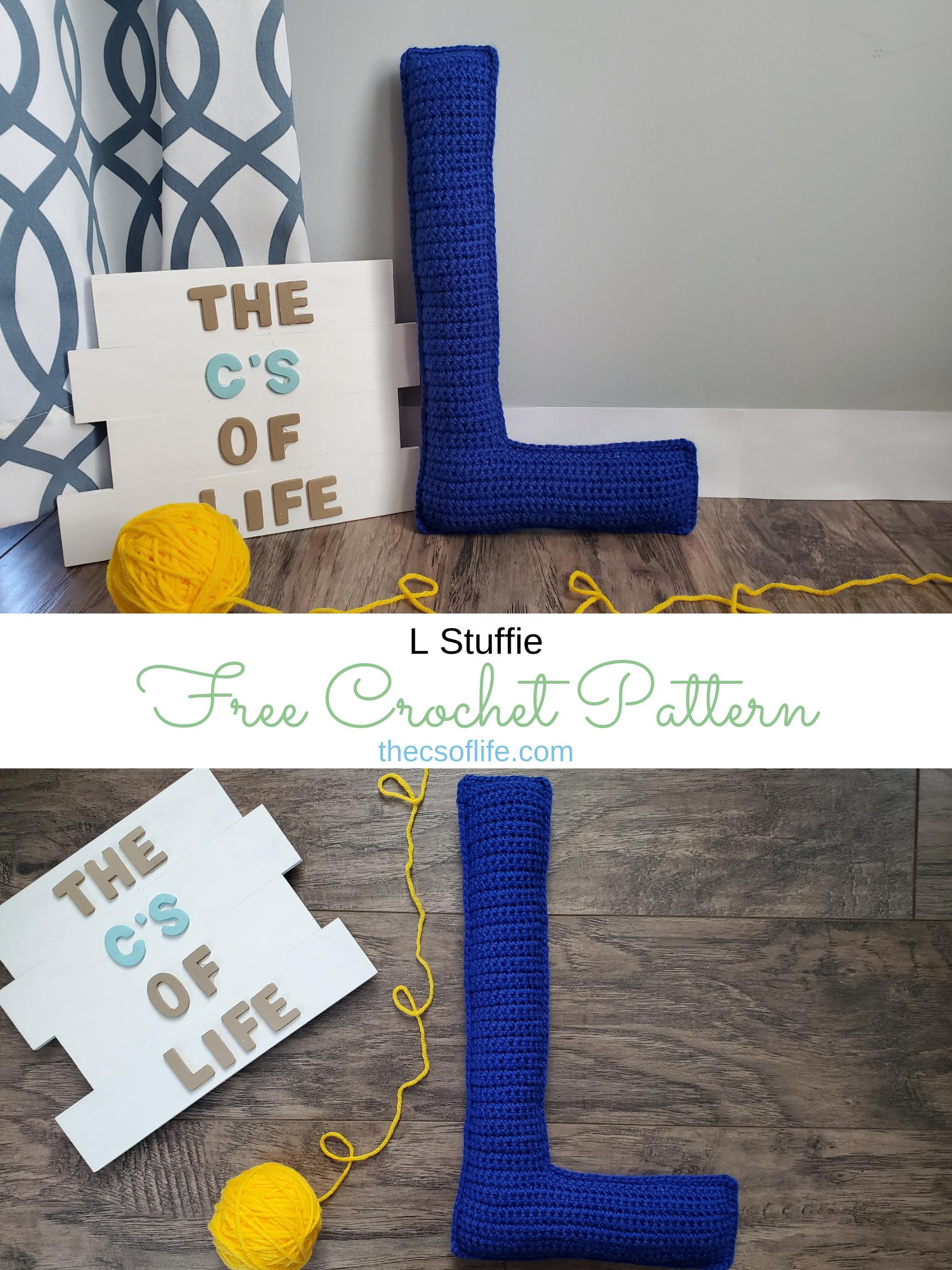 L Stuffie - Free Crochet Pattern