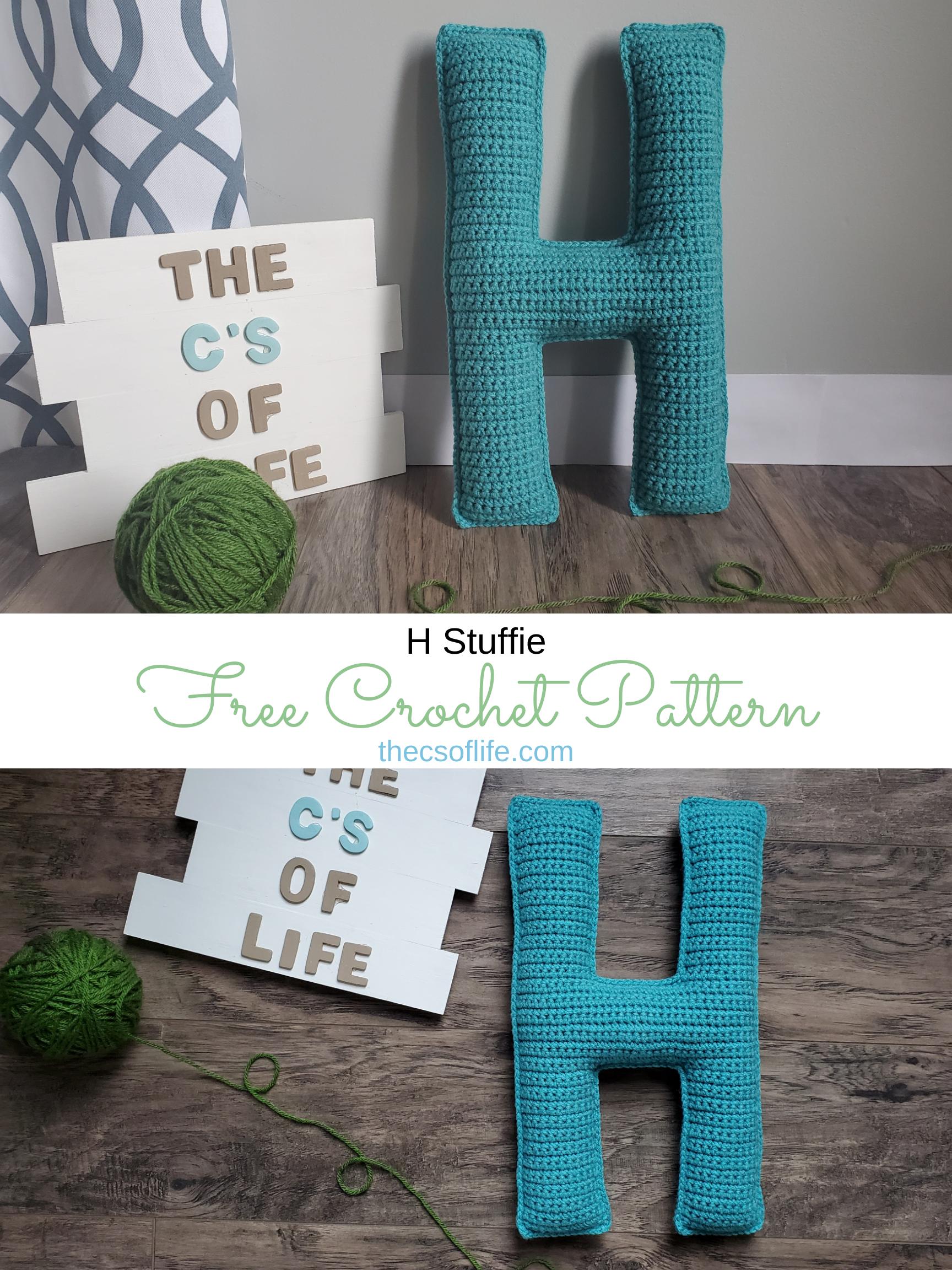 H Stuffie - Free Crochet Pattern