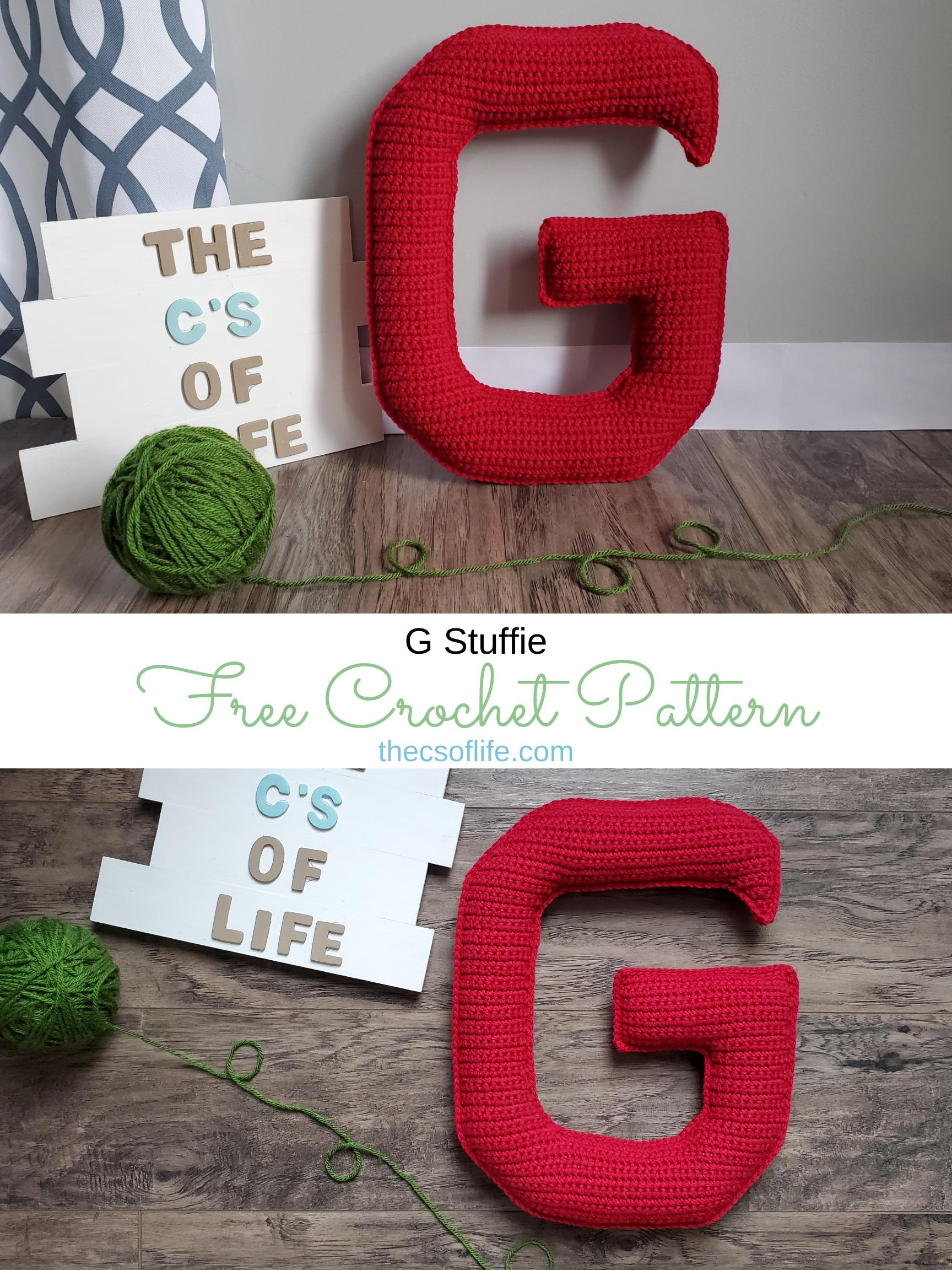 G Stuffie - Free Crochet Pattern