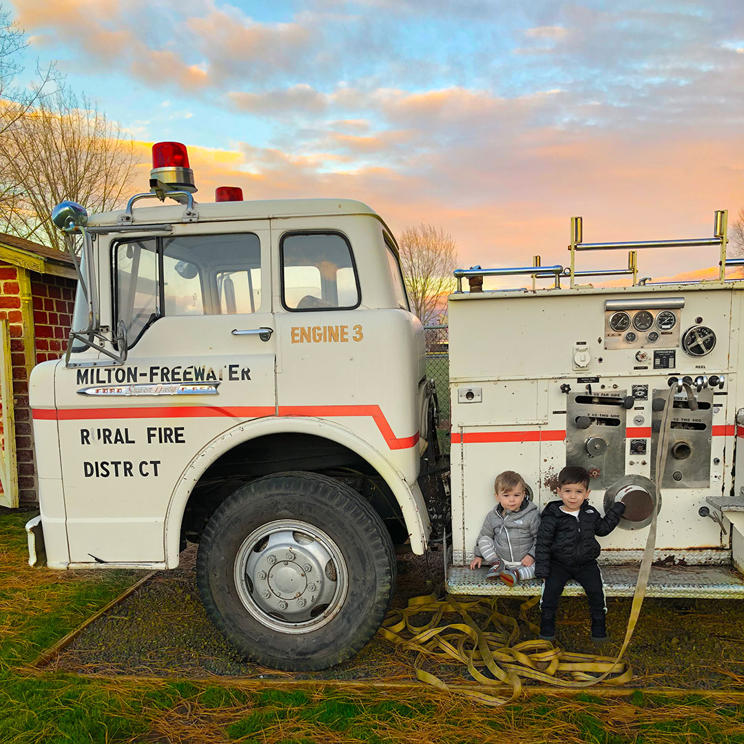 Kids can even monkey around on a fire truck at the Children's Museum!