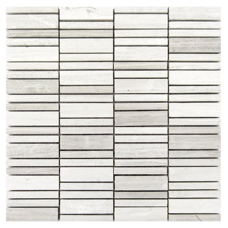 Textured wood tiles in gray