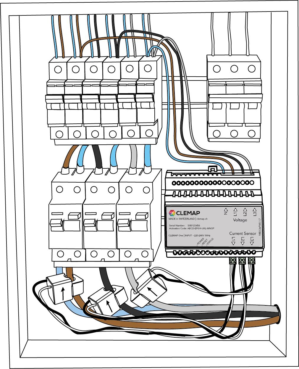 Installationsanleitung 25A Sensor