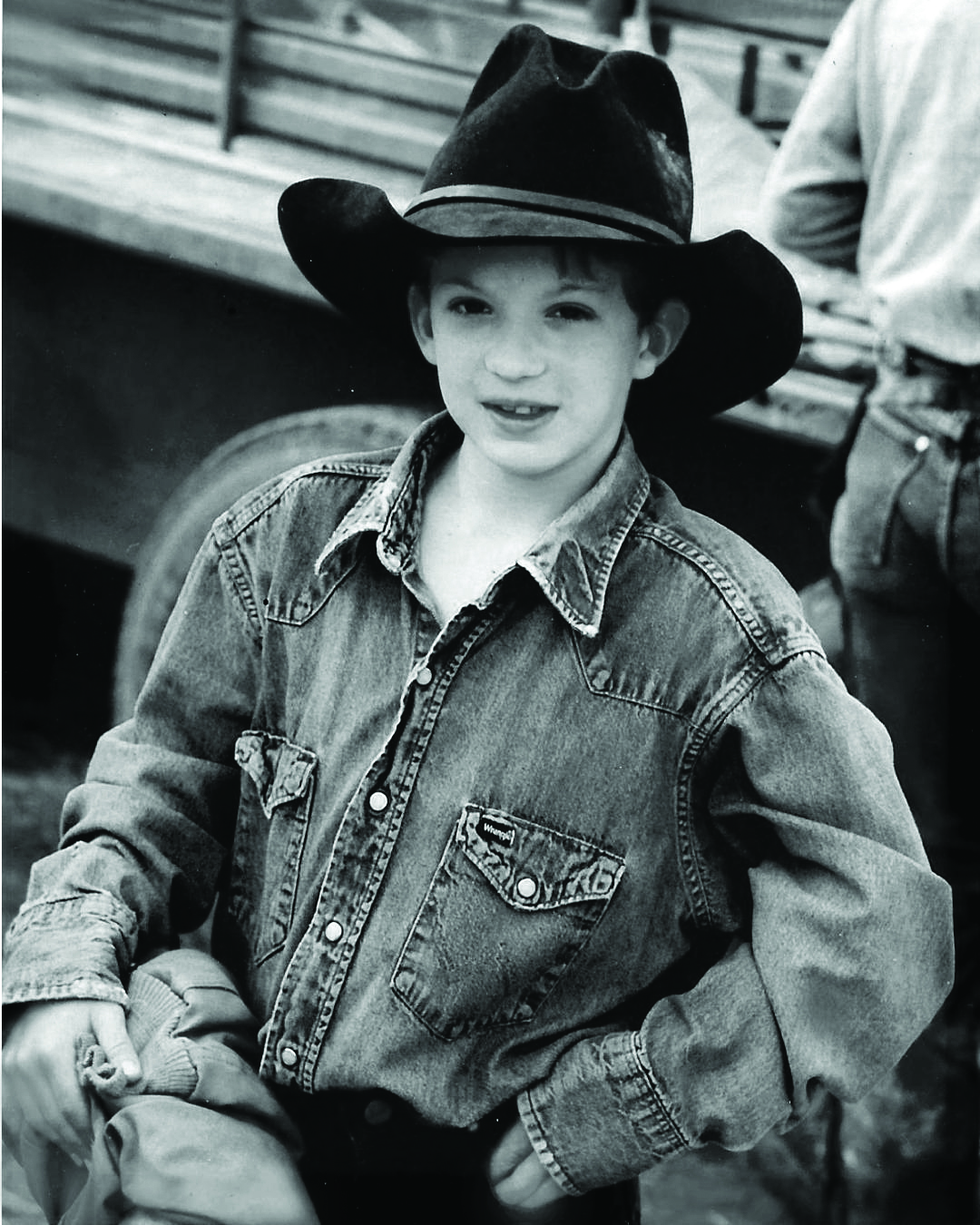 Cole Hog Hunt in Hat BW.jpg