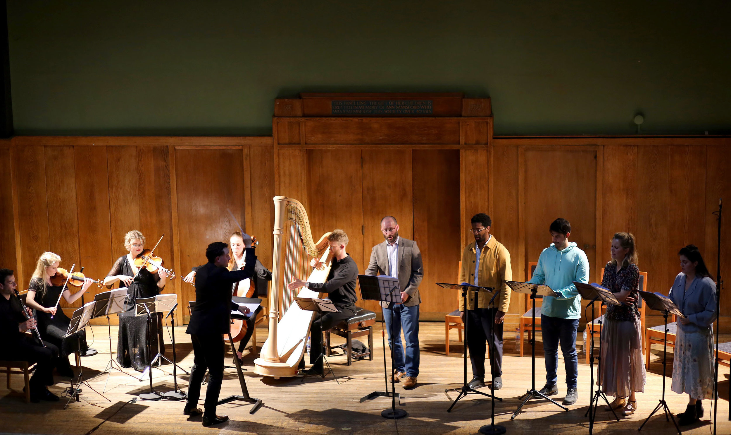 World premiere of  The Gardeners  at Conway Hall on 18 June 2019 (Photo Robert Piwko)