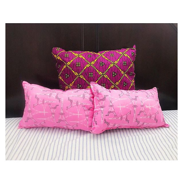 We're working on our spring collection. #AfricanPrint and other cool pillow cases coming soon :) • • • #AfricanPrintPillows #ParisPillow #CustomPillow #homedecor