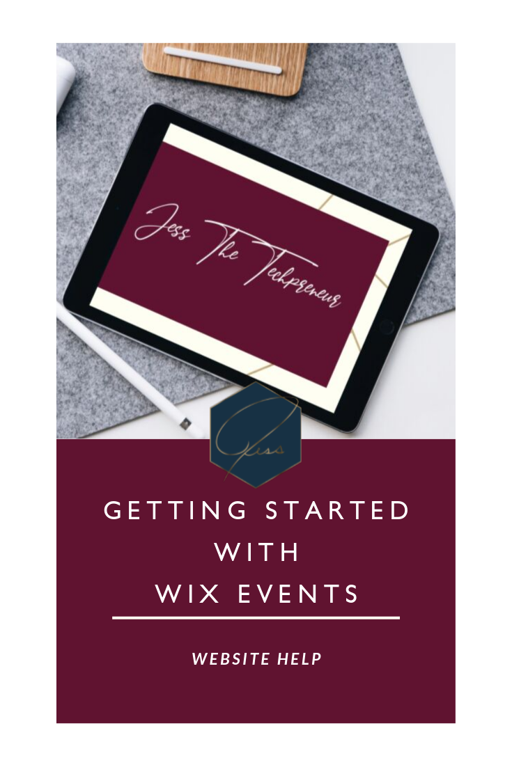 Getting Started with Wix Events | Jess The Techpreneur
