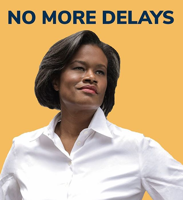 Because the Public Advocate race is non-partisan, no candidate can be on the Democratic Line. ⁣ ⁣ Instead each candidate gets to choose their own party name.🙌🏿 ⁣ I'm excited to announce I will be running on the 💥'NO MORE DELAYS' 💥 party line!! #dawn4ny #nomoredelays #publicadvocate