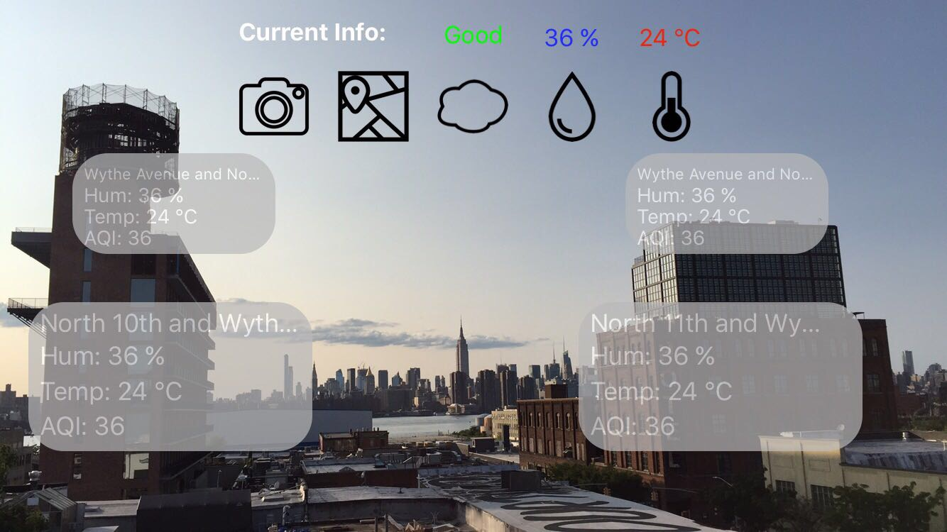 URBAN VISUALIZATION - We have developed augmented reality web and iOS applications to visualize urban environmental data