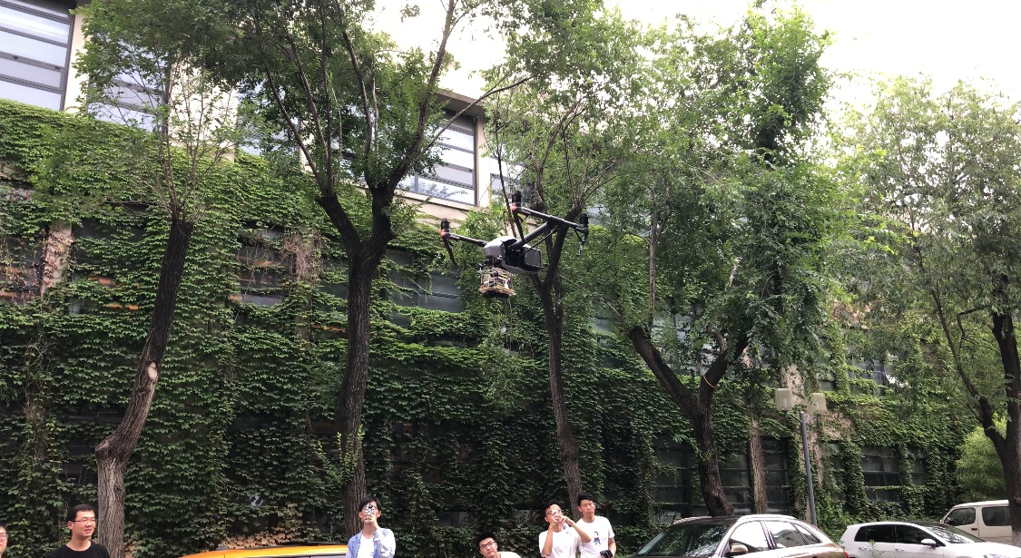 MUST sensing kits coupled to UAV's in Tongji University campus in Shanghai.