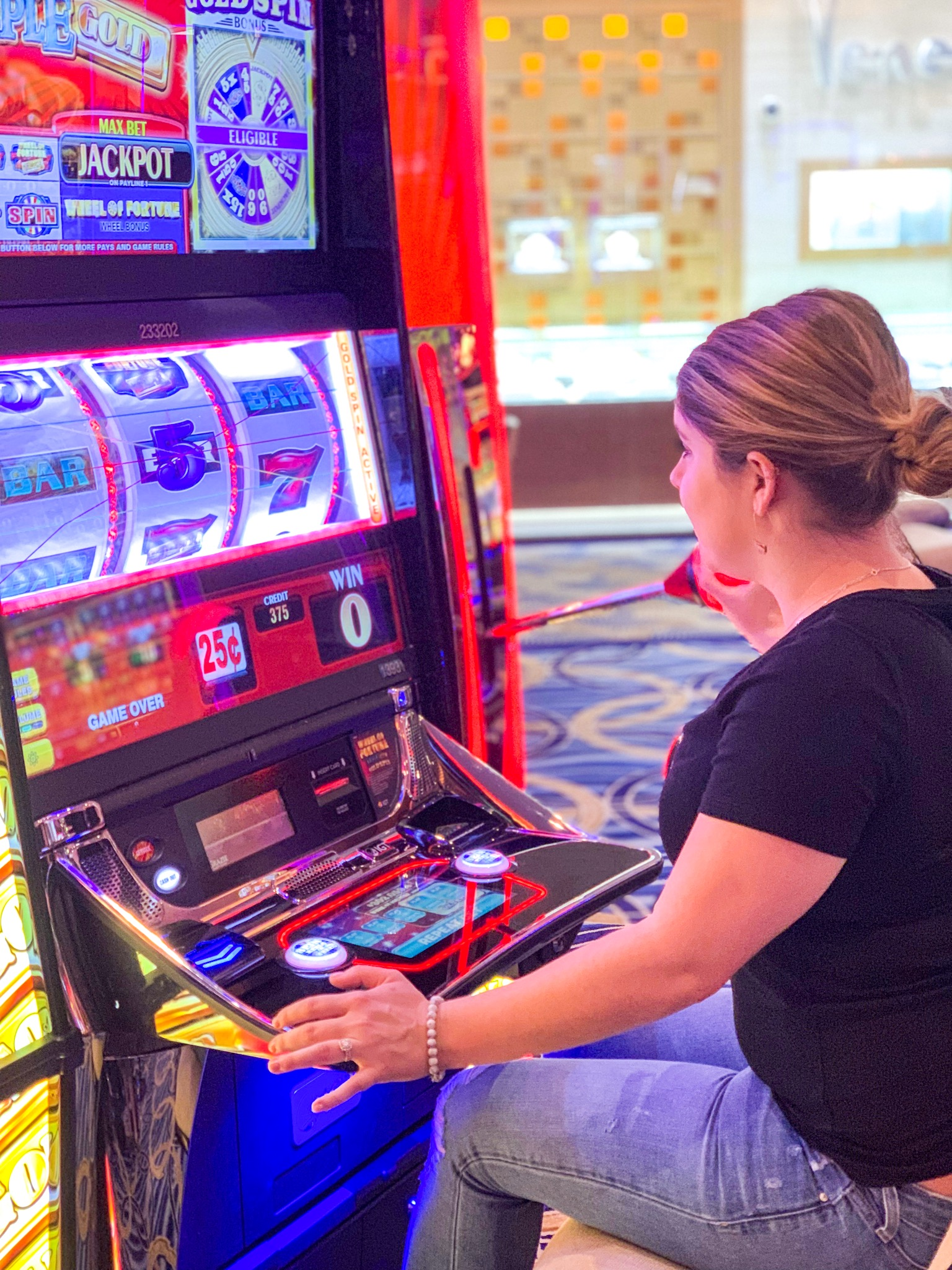 Megan Playing Slots in Vegas.JPG