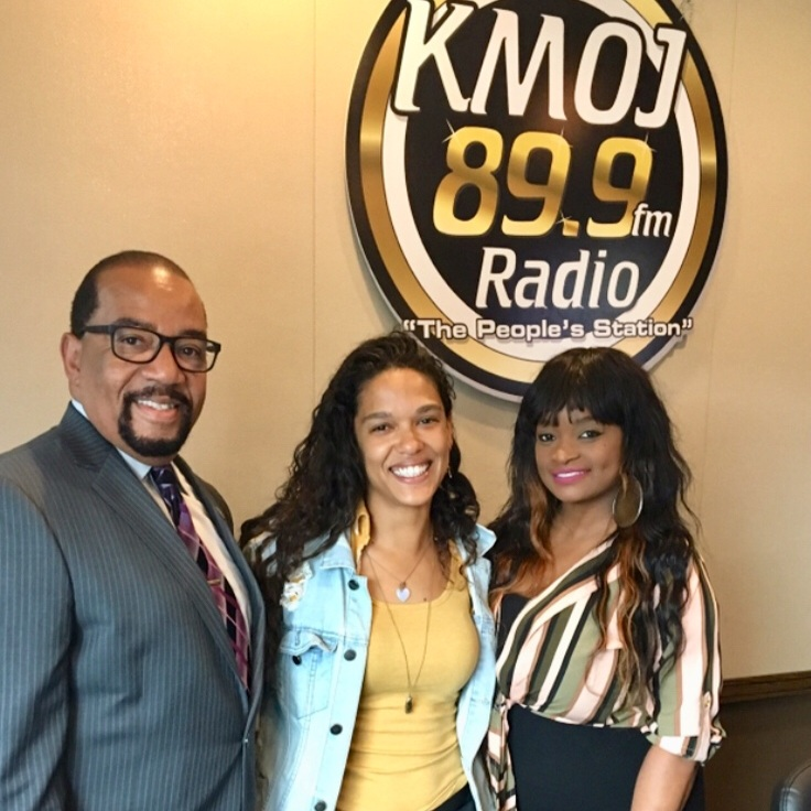 """Executive Director Kristel Interviewed at KMOJ Radio concerning Stormwater issues for the """"Water Main"""" Project."""