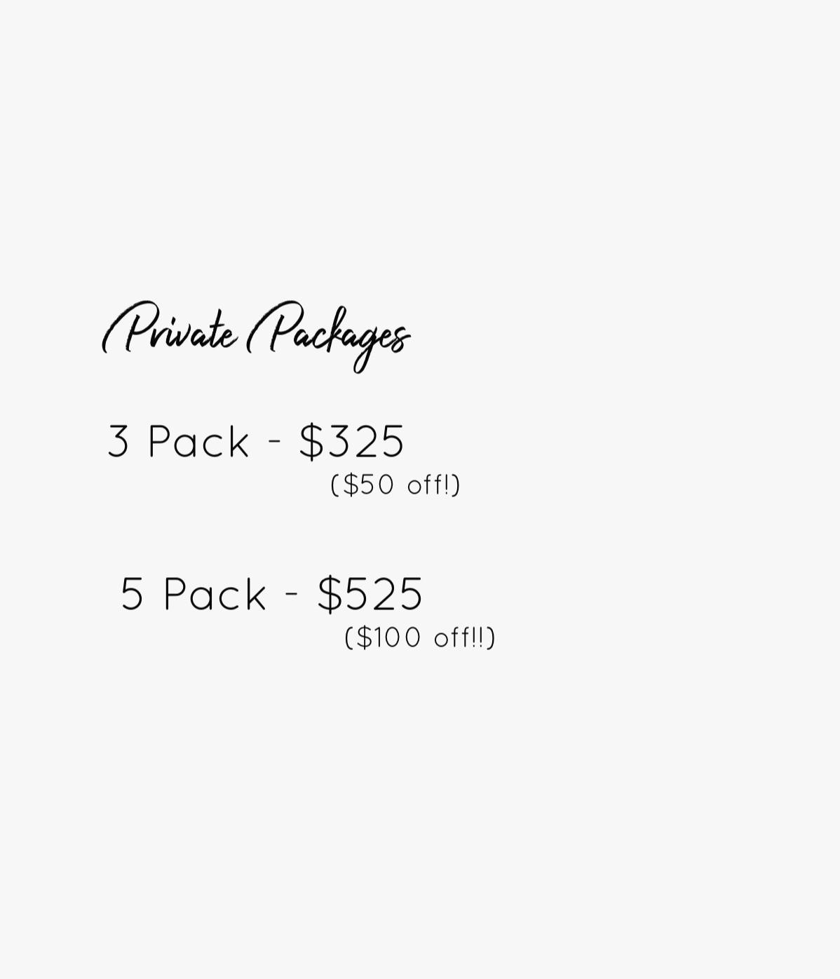 Single Private $125 (60 min) -