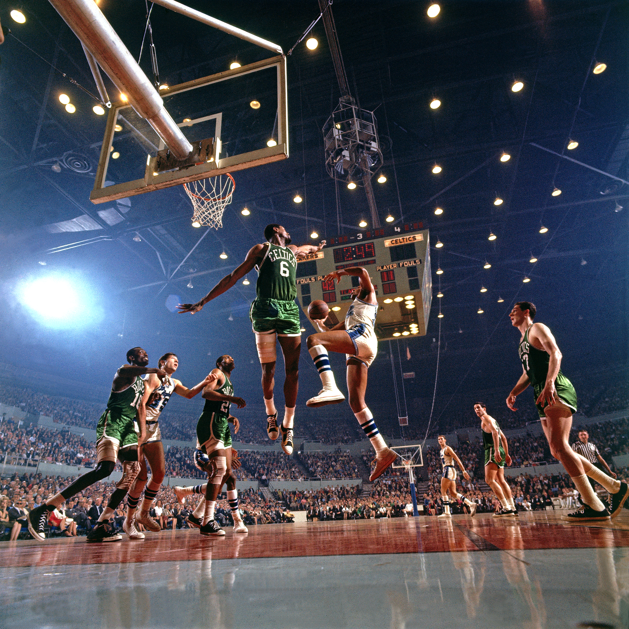 Bill Russell & Elgin Baylor, 1966