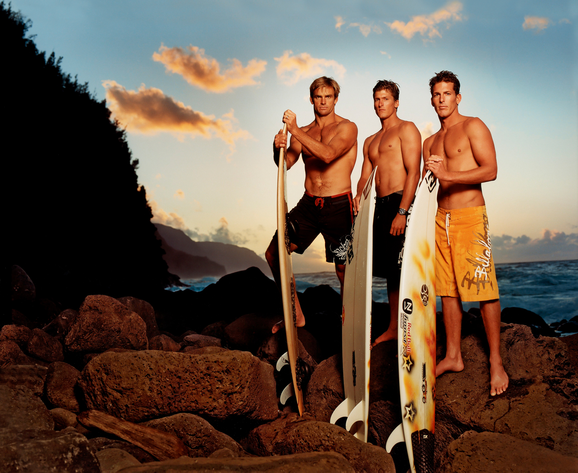 Laird Hamilton, Bruce Irons & Andy Irons, 2005