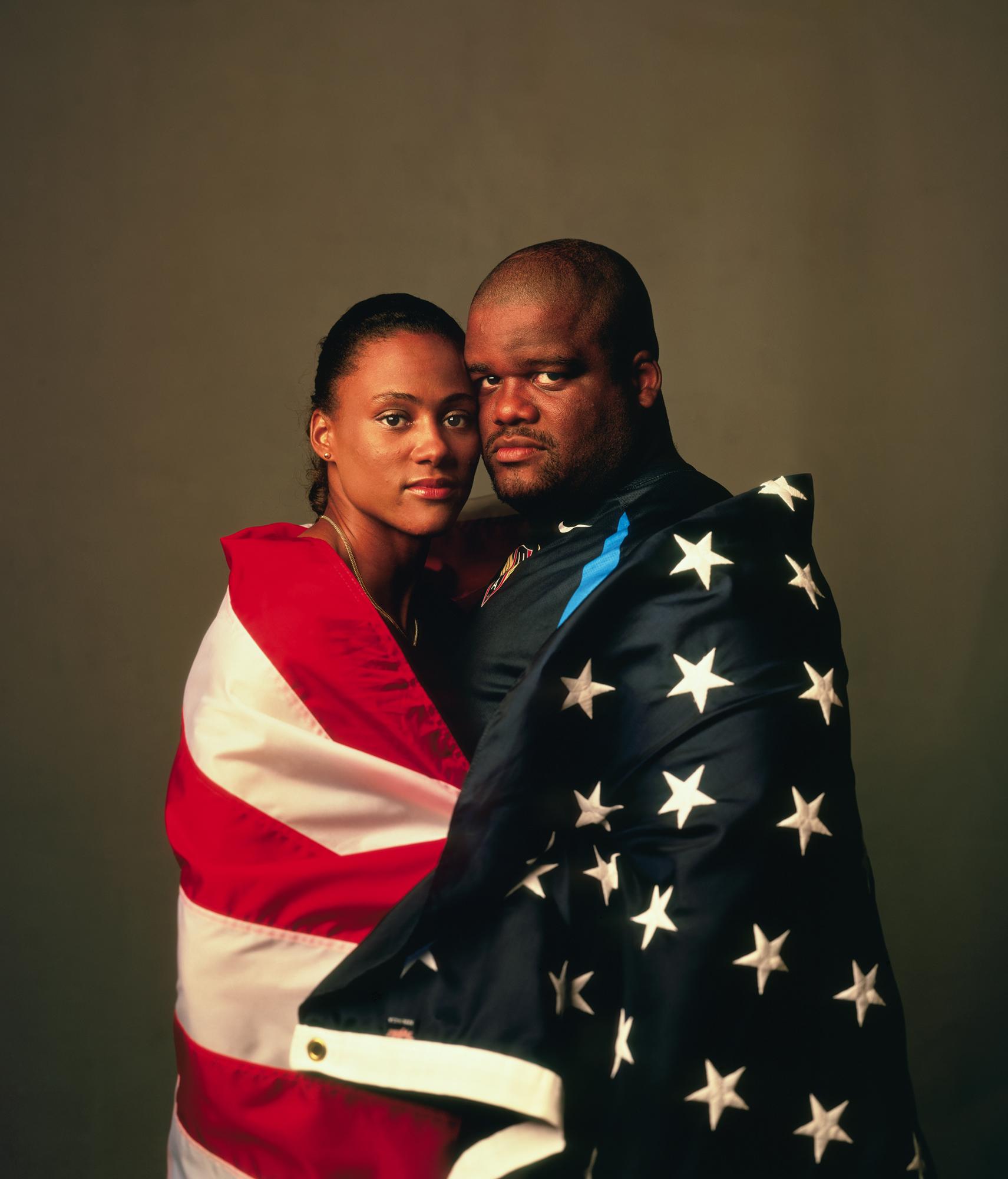 Marion Jones & CJ Hunter, 2000