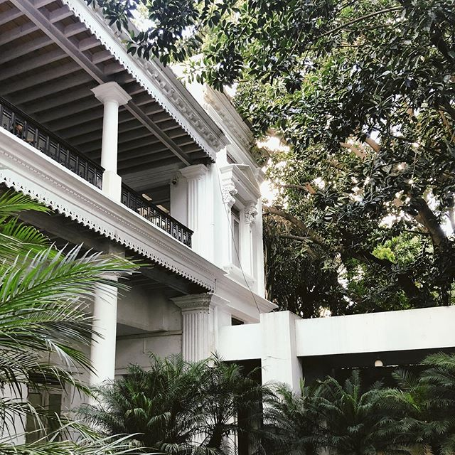 An old, British, colonial house turned into a museum of modern art now showcasing primarily Indian and local artists — so beautiful!!