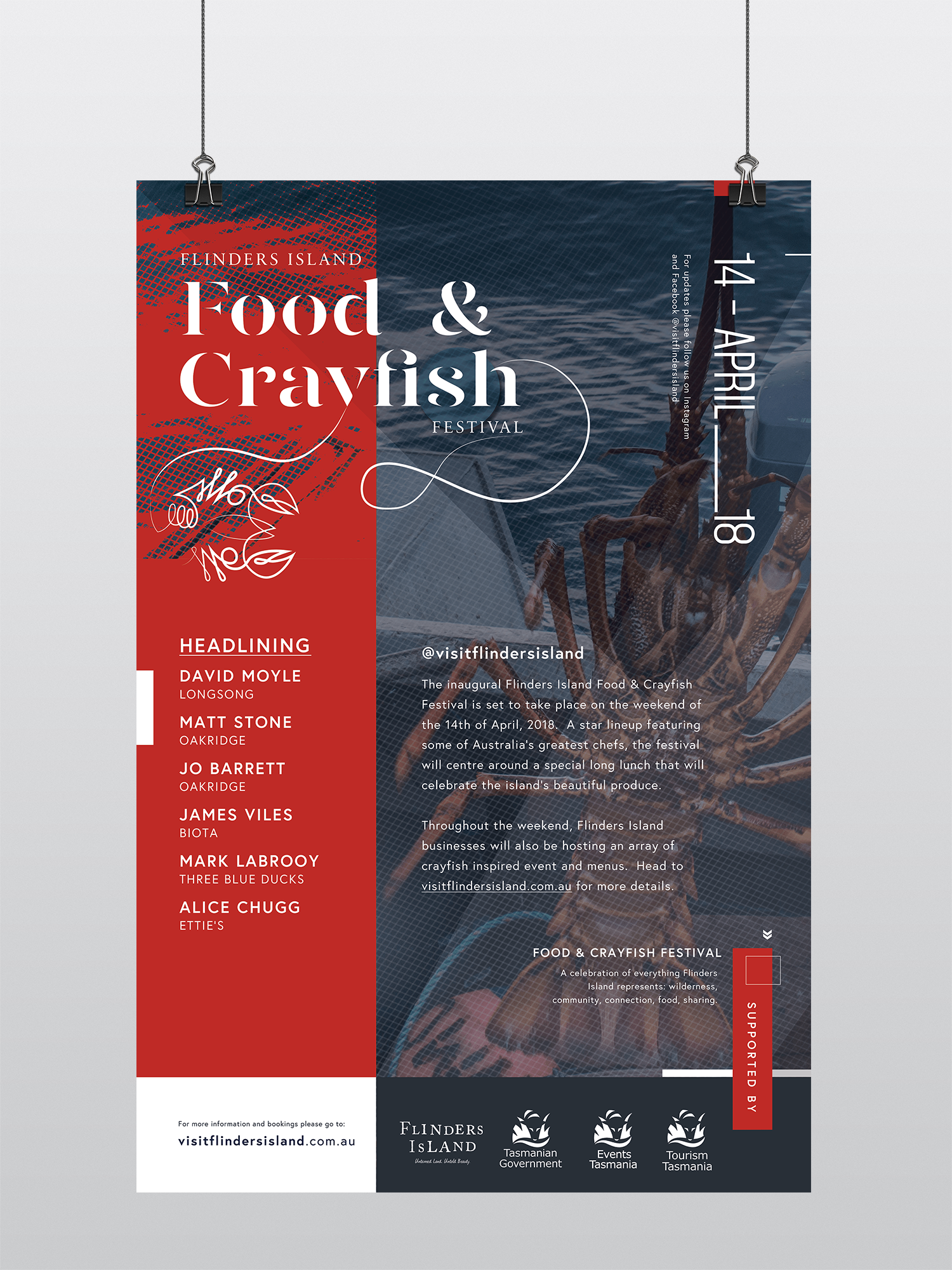Flinders Island Food & Crayfish Festival 2018 Poster Design