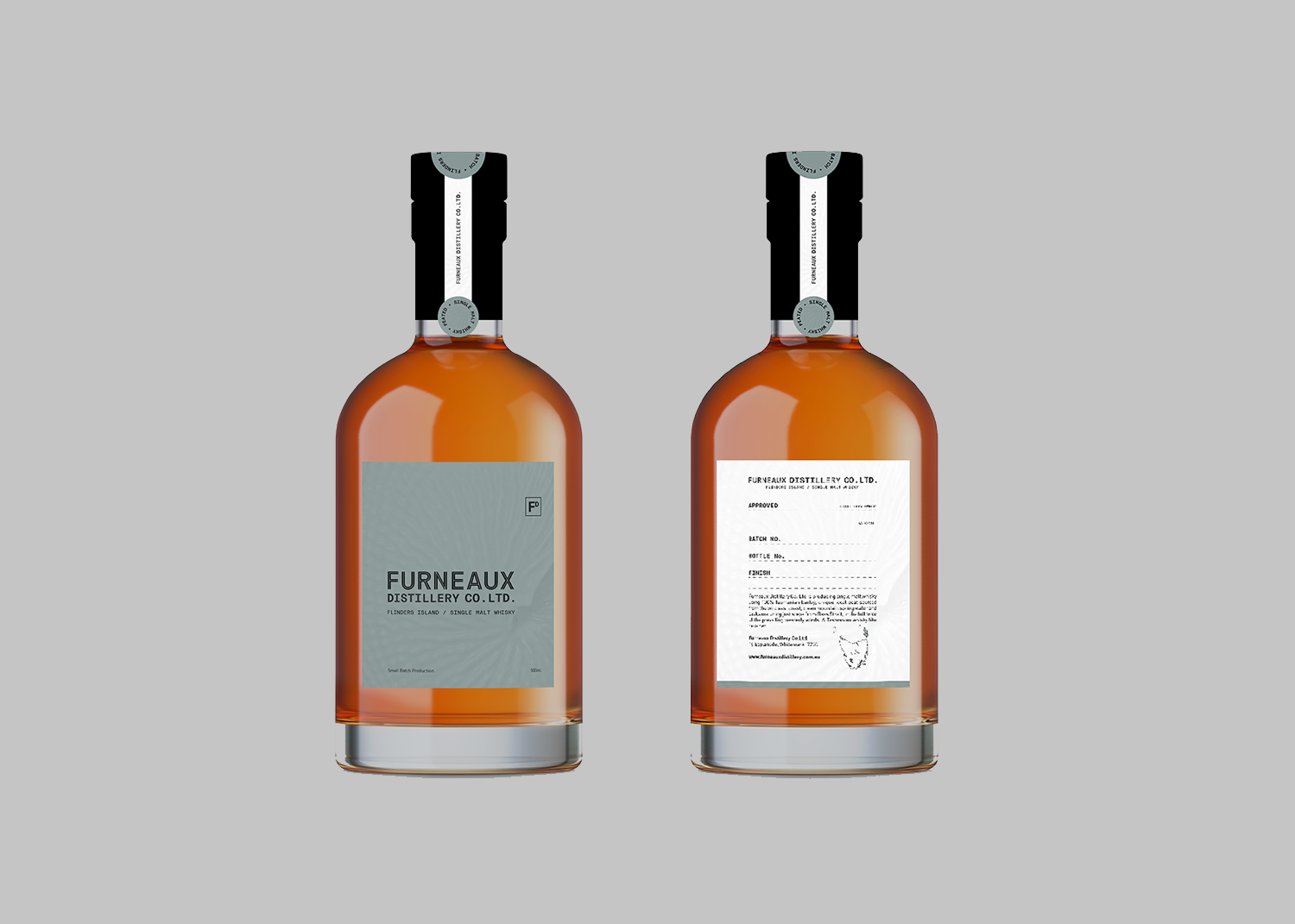 Graphic Design Example - Furneaux Distillery