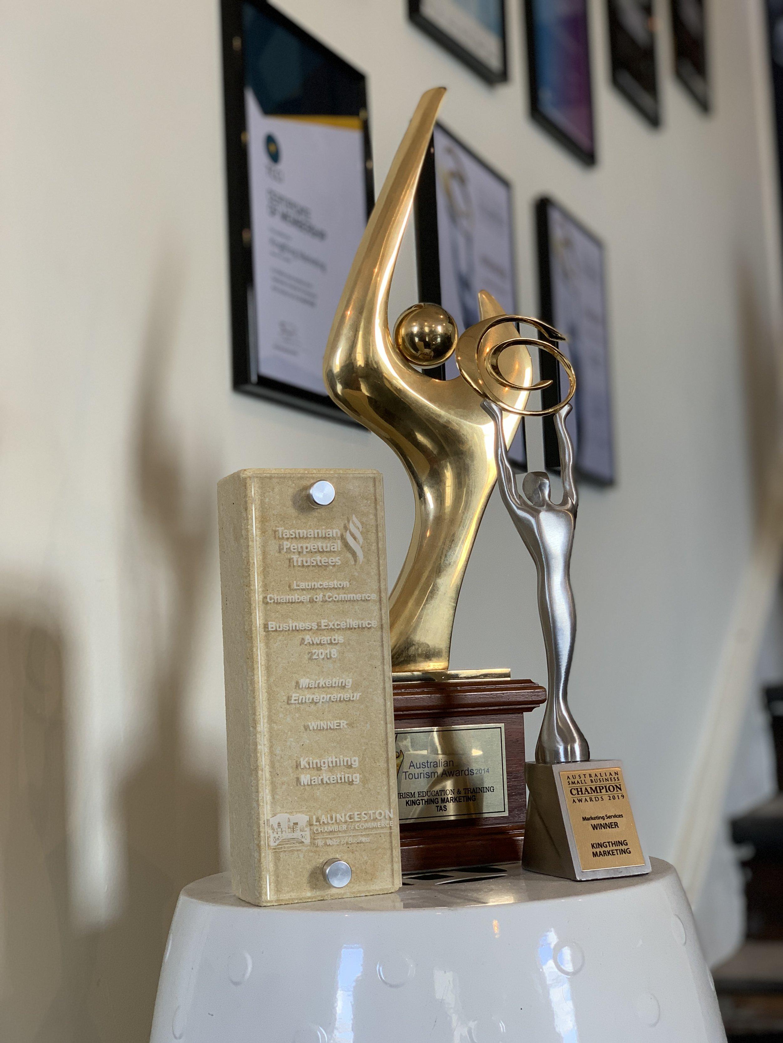 Kingthing launceston website awards and trophies