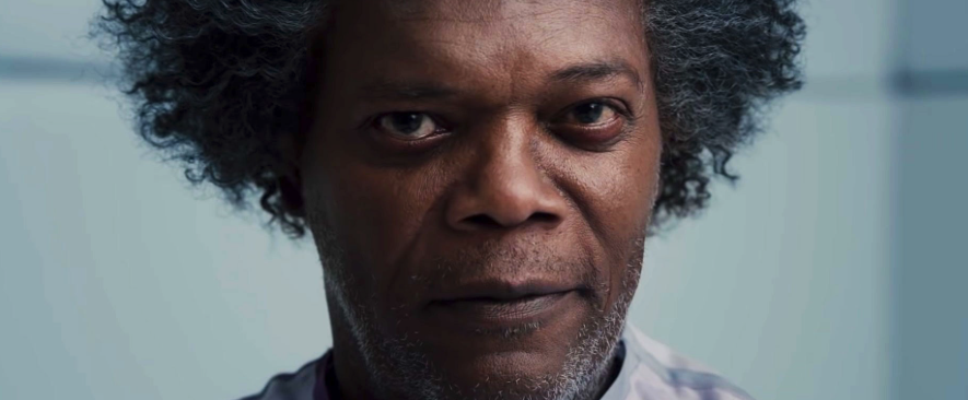 Samuel Jackson in  Glass , photo by Jessica Kourkounis, courtesy of Universal Pictures