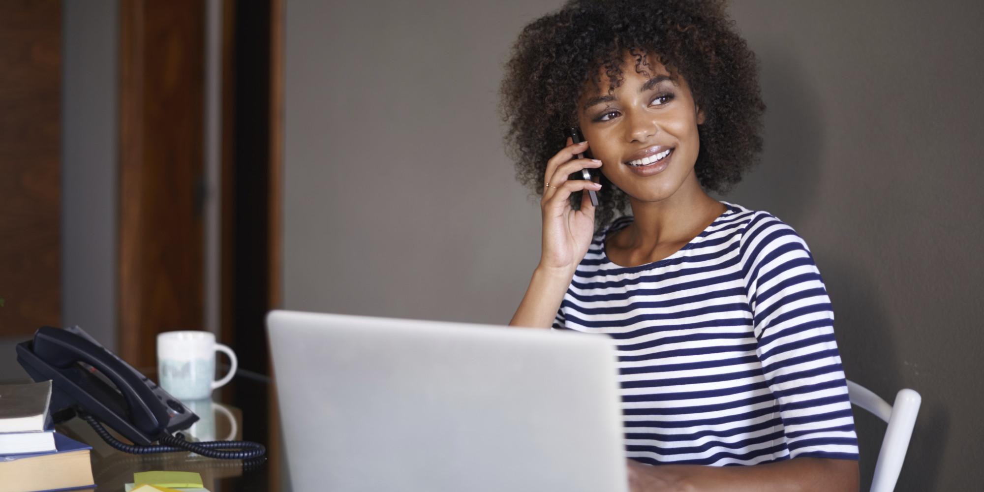 Resume Agency Woman on Phone