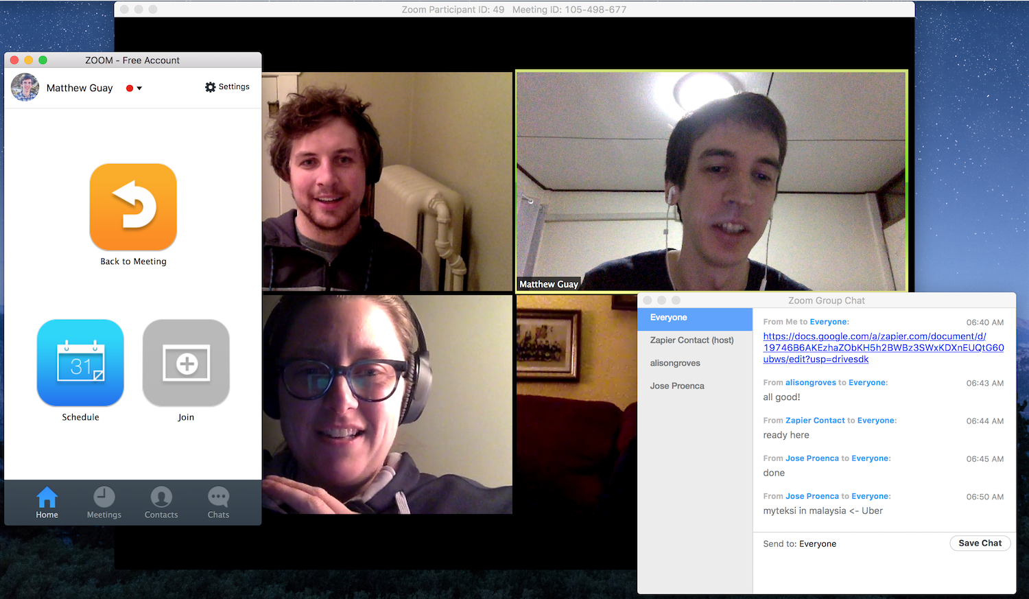 Video Conferencing with Zoom