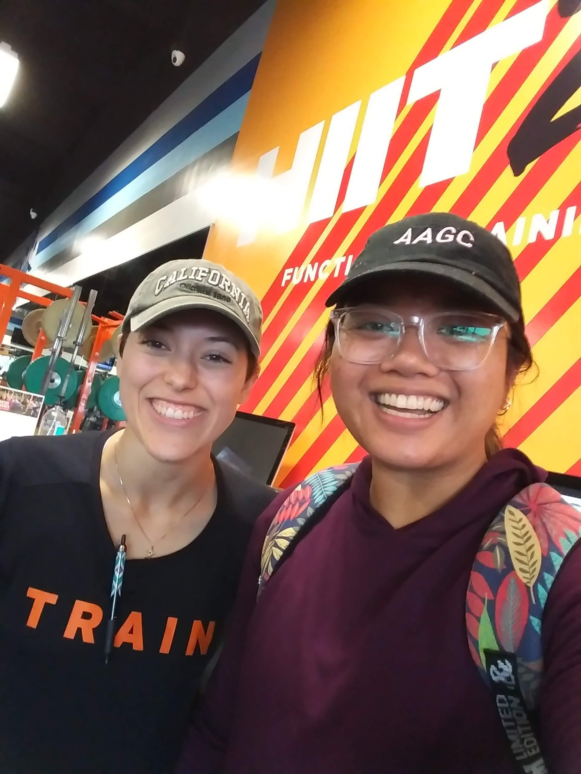 Last day with my trainer and friend Xi! We literally share the same appreciation for hats, backpacks, and fitness memes haha