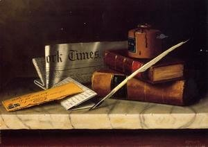 Still Life with Letter to Thomas B. Clarke  (William Michael Harnett, 1848 – 1892)