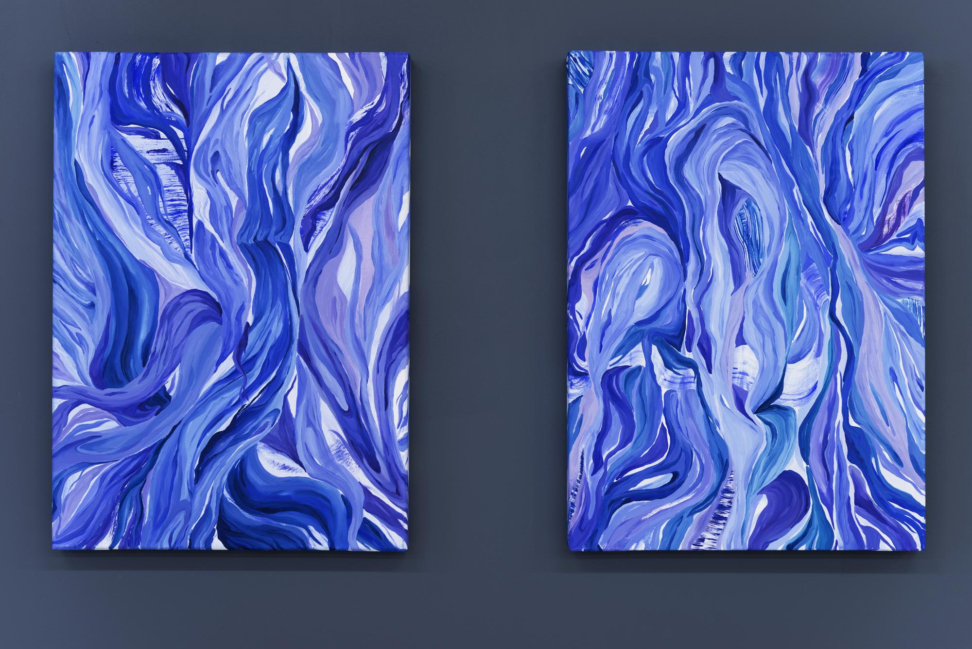 oil on canvas, w50xh70cm x2. 2018