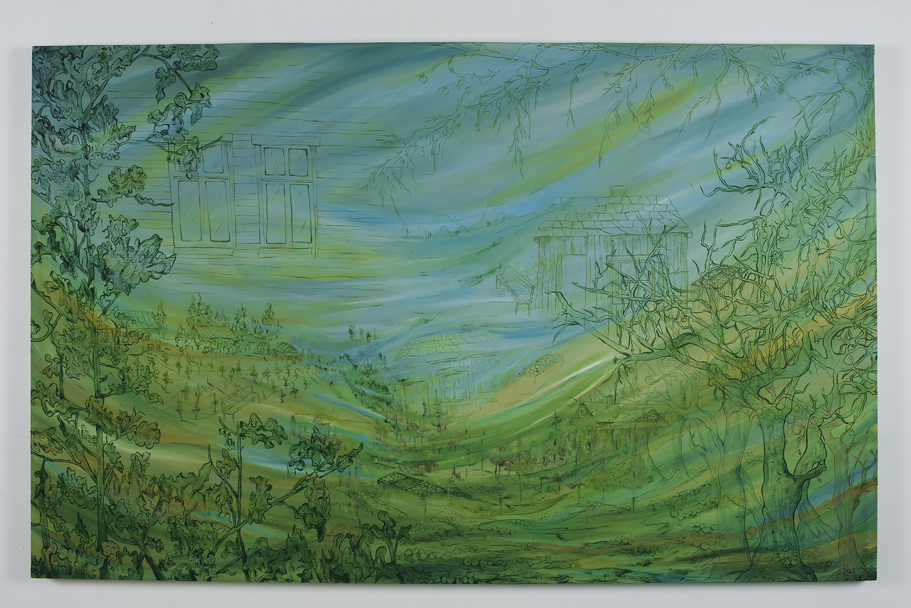 Ulvik. oil on canvas, W194 x H124 cm.2008