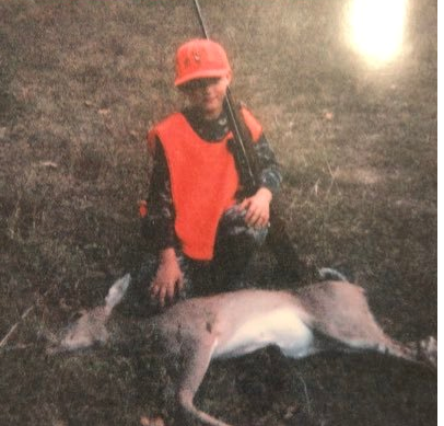 "What started it all.. - My first ever was a yearling doe. The hunt lasted 5 minutes. After that I was pumped to try this ""hunting"" thing. My uncle Justin made me take a bite of the deer heart in celebration of my first successful hunt."