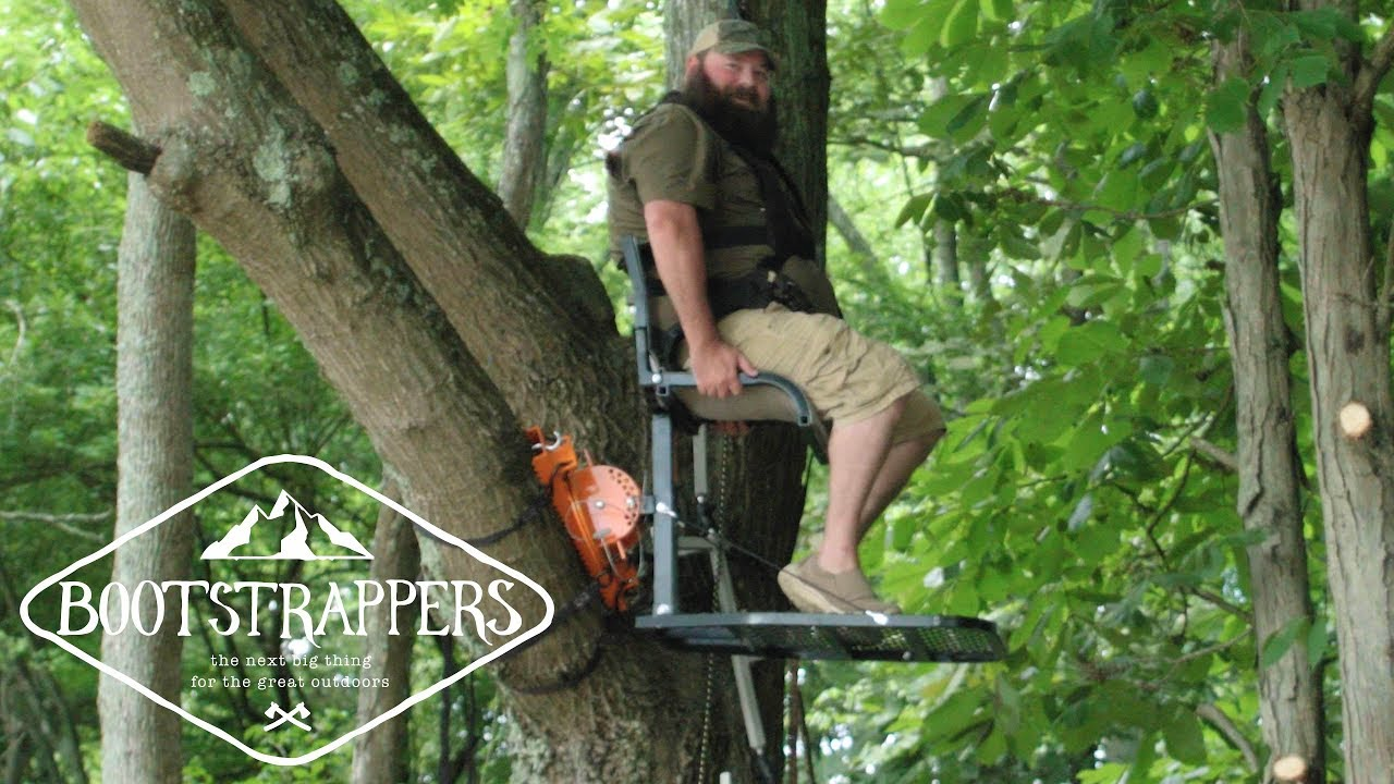 """This is a photo of popular social media influencer, """"Alabama Boss"""" as he tries out an Out On A Limb product during an episode of Bootstrappers."""