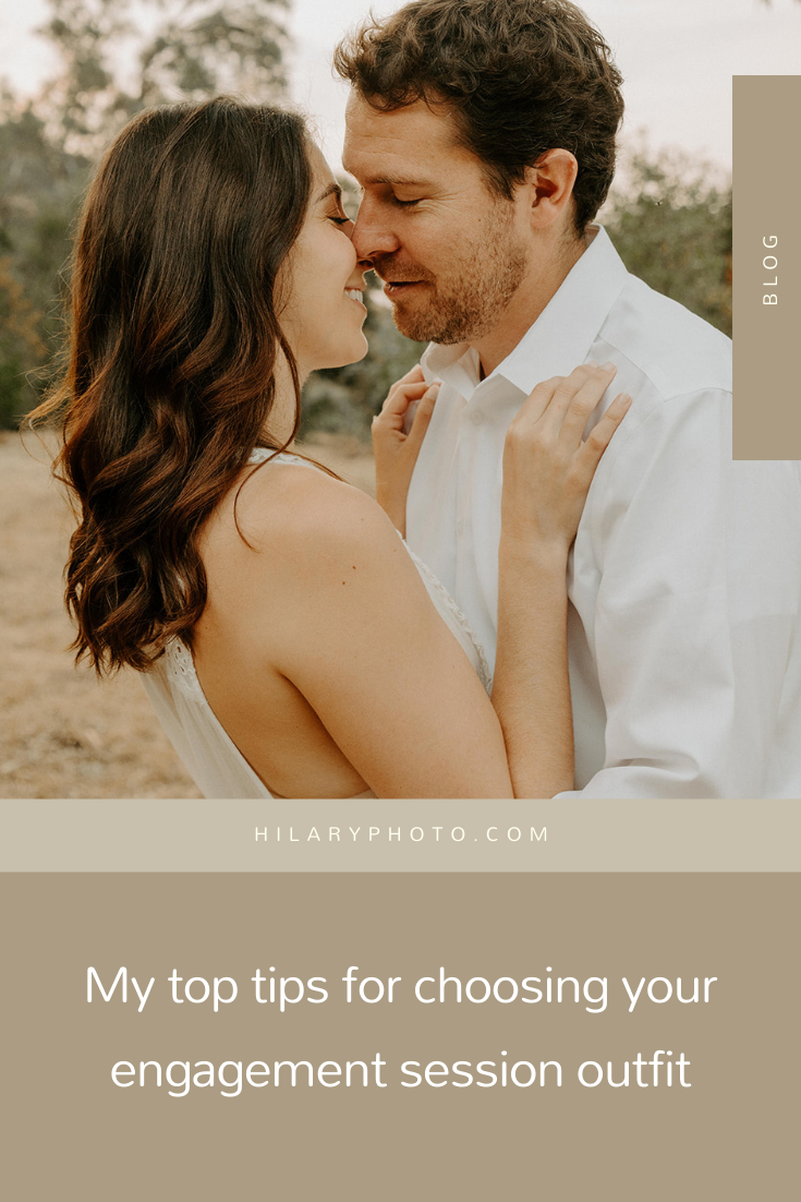 My top tips for choosing your engagement session outfit by Hilary Kao Photo. This blog post includes Includes posing inspiration for an outdoor couples session. Book your Los Angeles couples session and browse the blog for more inspiration #couples #photography #couplesphotography #Coloradophotographer #engagementphotography