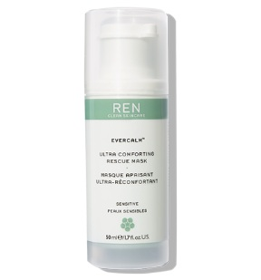 Try out my favourite  Ren Evercalm™ Ultra Comforting Rescue Mask , £30.00, which de-stresses and comforts.