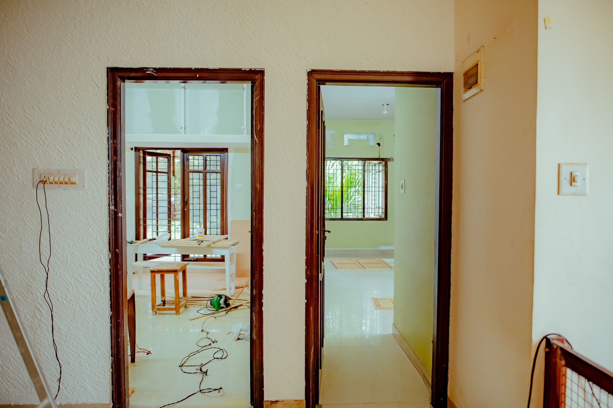 Entrance to rooms (Before)