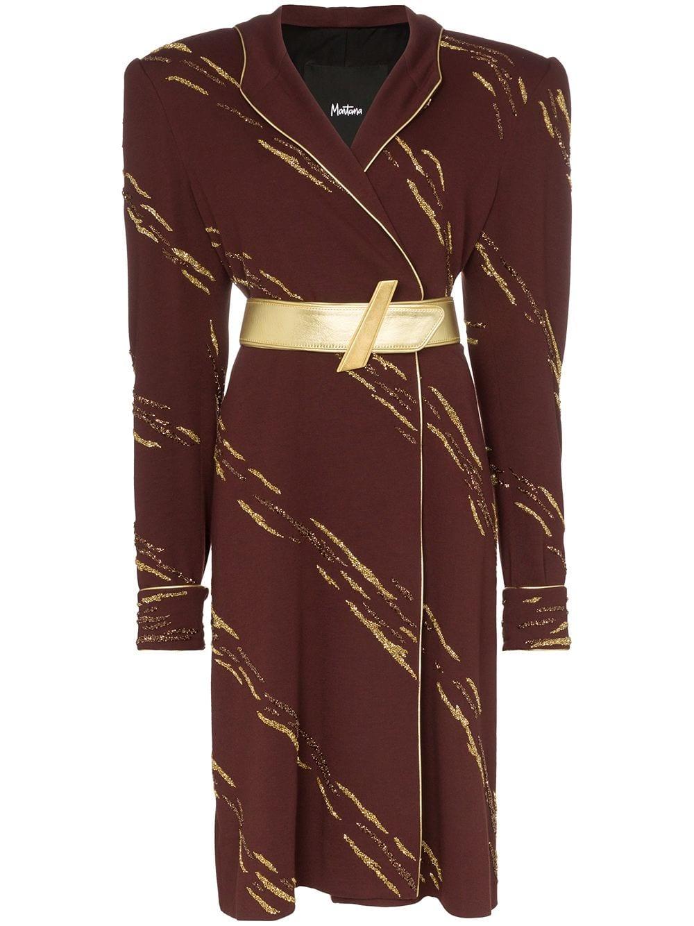 CLAUDE MONTANA Hooded midi-dress