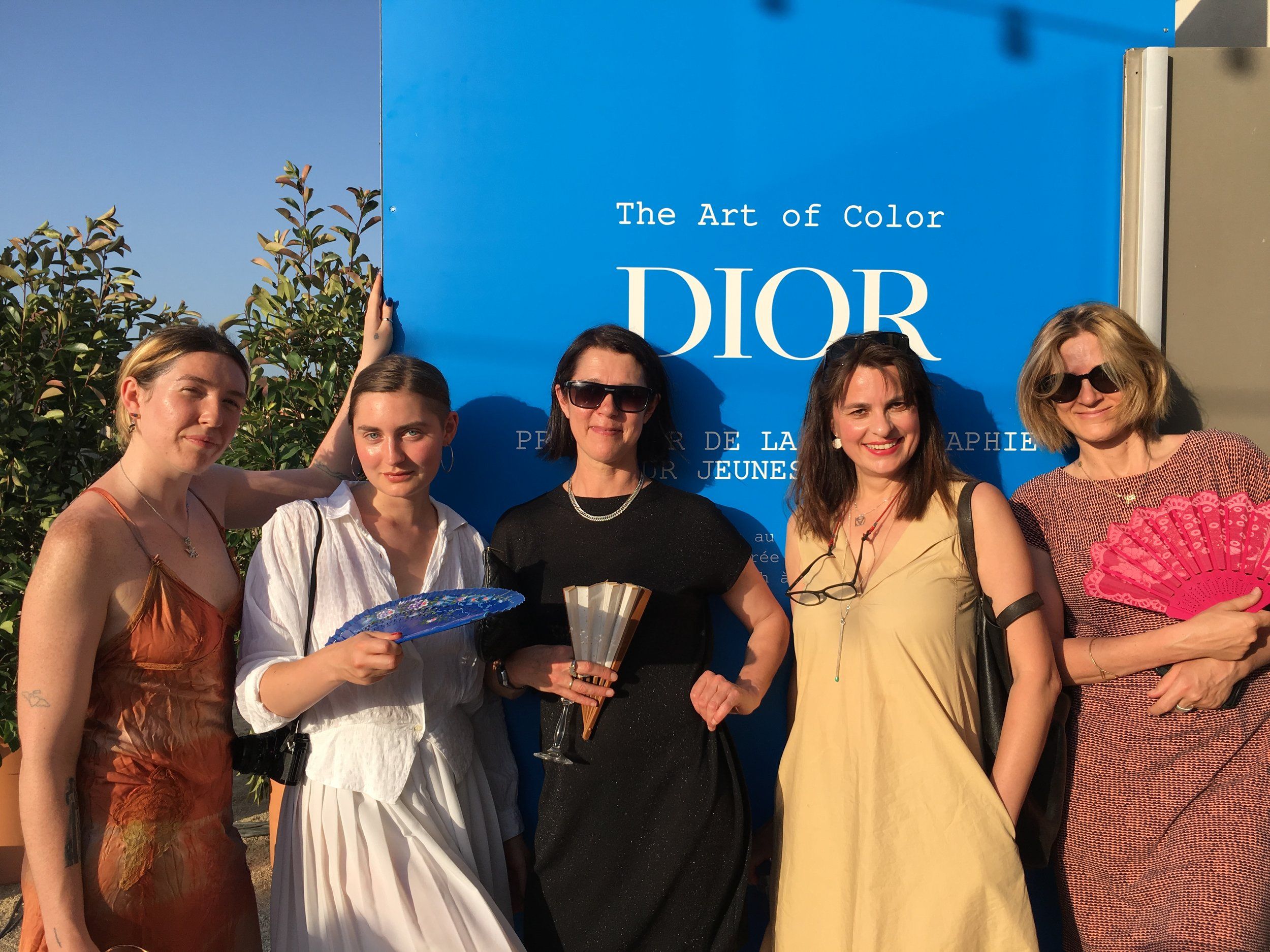Brenna Horrox (director), Ozziline Bill (apprentice), Sarah Jones (friend & supporter), Rut Blees Luxemburg (director), Sophy Rickett (director),