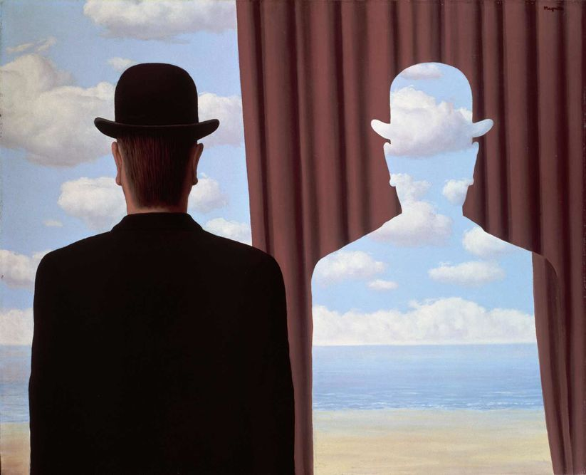 René Magritte, La Décalcomanie (1966), huile sur toile.