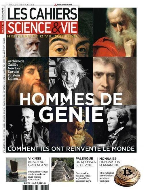 """Couverture de Science & Vie """"Hommes de génie, comment ils ont réinventé le monde"""". Si quelque chose vous choque, c'est que vous êtes attenti.f.ve à l'invisibilisation ;)"""