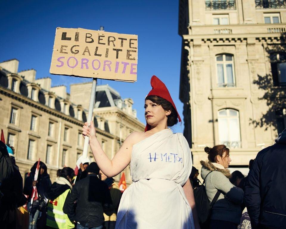 Lors de la journée contre les violences faites aux femmes du 25 novembre 2017, à Paris. Photo Cyril Zannettacci
