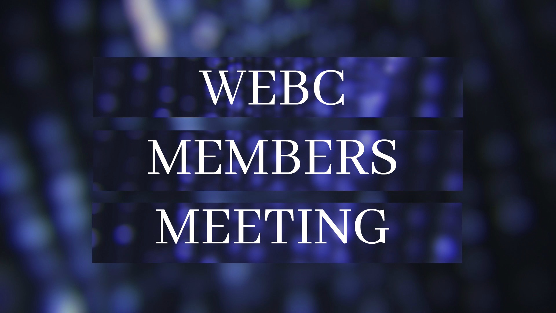 WEBC Members Meeting - On Sunday, September 22nd, join us for lunch after service followed by our quarterly meeting for WEBC members.