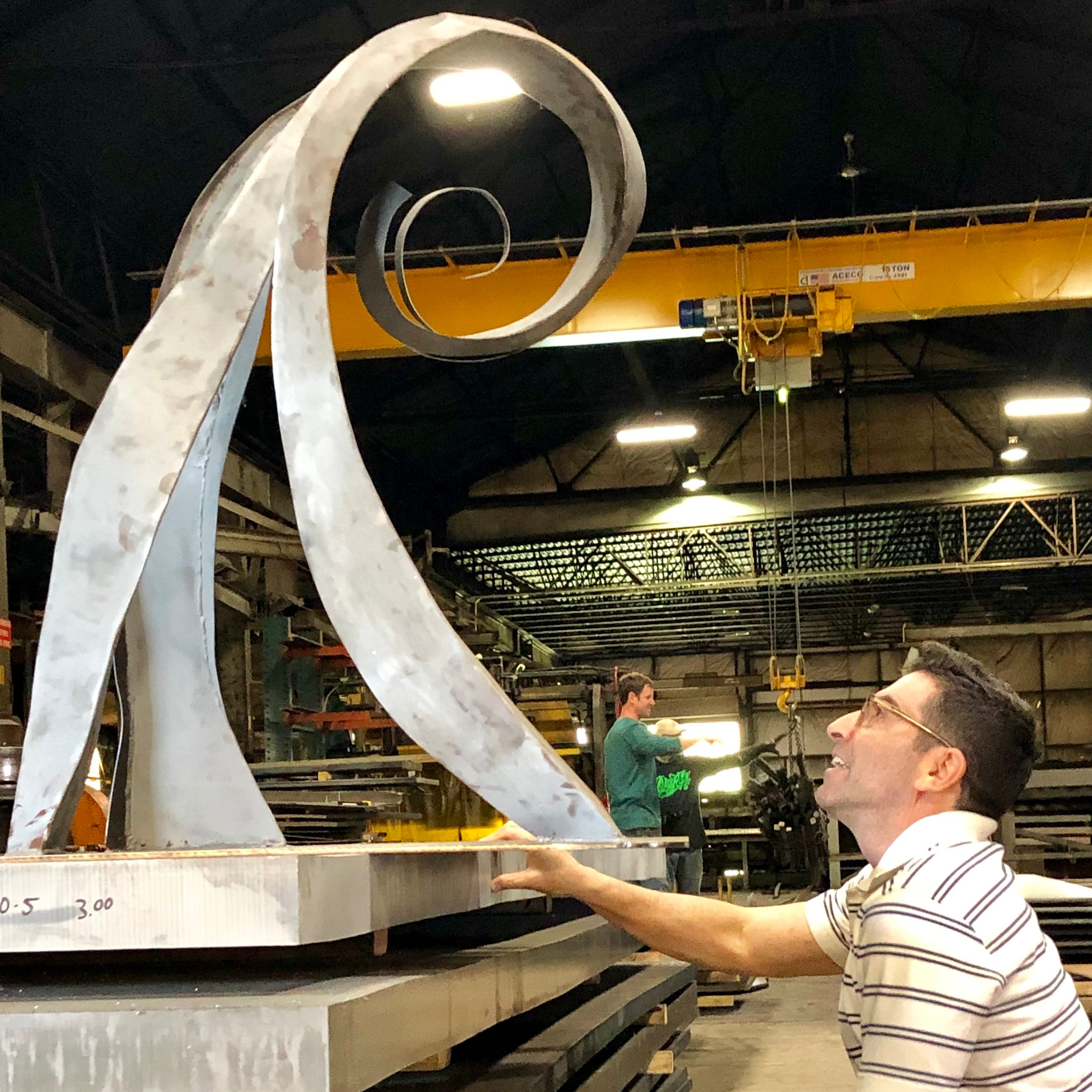 With 3' model of Wavehenge at Brandywine Valley Fabricators