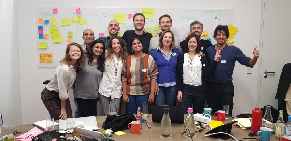 The Yunus Social Business Corporate Innovation Team from Europe, Brazil and India