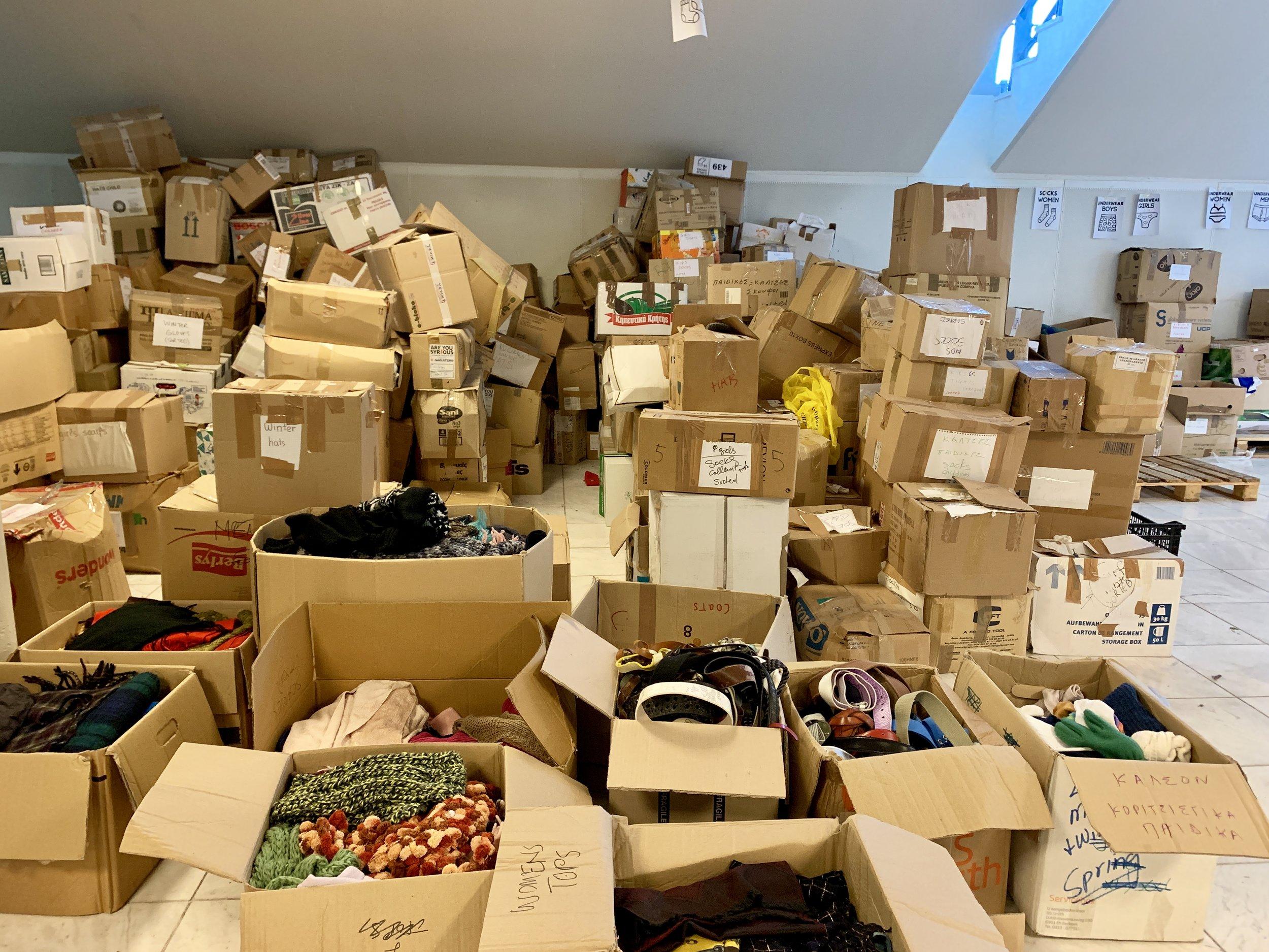 Pampiraki Refugee Warehouse Athens