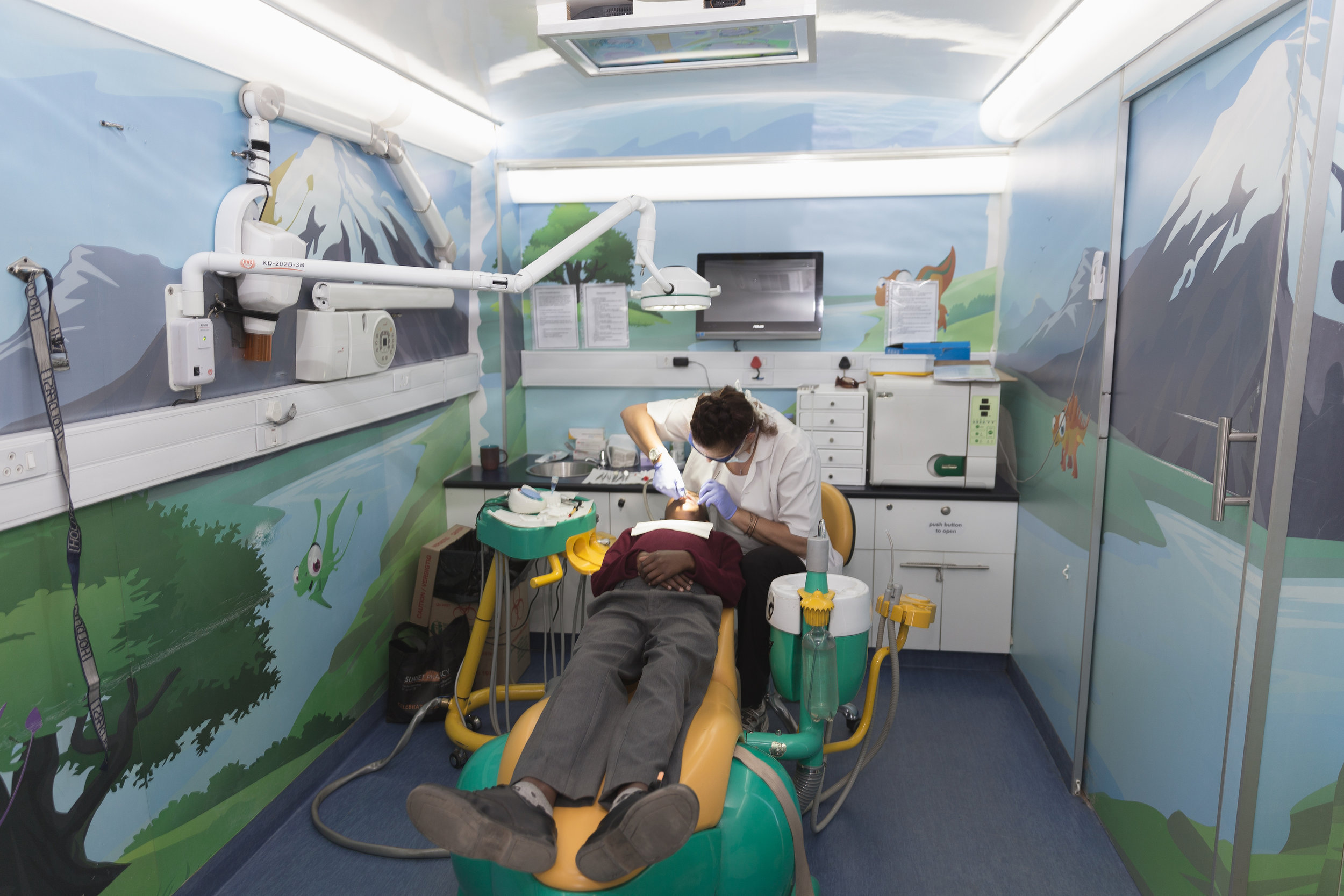 Dentistry section - Preventative oral hygiene is admistered by Mobile Schools Health dentists / oral hygienists.